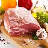 свежий свинина сырцовый стоковое фото