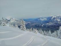 свежий снежок гор стоковое изображение