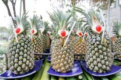 Свежий сок ананаса для поставлять еду Стоковое Изображение RF