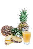 Свежий сок ананаса стоковые фотографии rf