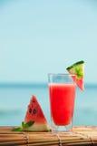 Свежий сок арбуза с мятой, лимонадом стоковое фото rf