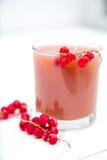 Свежий сок красной смородины в стекле Стоковое Изображение