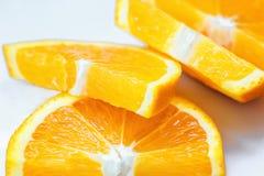 Свежий сочный оранжевый изолированный кусок плодоовощ Витамин C цитруса плодоовощ-естественное Стоковые Фото