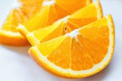 Свежий сочный оранжевый изолированный кусок плодоовощ Витамин C цитруса плодоовощ-естественное Стоковое Изображение RF