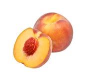 Свежий сочный персик Стоковая Фотография
