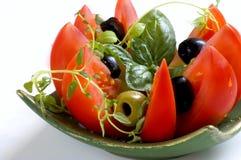 свежий среднеземноморской салат Стоковая Фотография