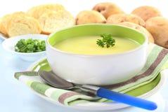 свежий суп картошки петрушки Стоковые Фотографии RF