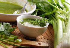Свежий суп сельдерея Стоковые Фото