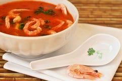 Свежий суп Том-Ям морепродуктов Стоковое Фото