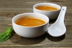 свежий суп тыквы Стоковое Изображение