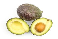 Свежий сырцовый авокадо изолированный на белизне Стоковая Фотография