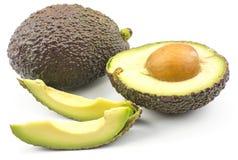 Свежий сырцовый авокадо изолированный на белизне Стоковое Изображение