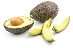 Свежий сырцовый авокадо изолированный на белизне Стоковые Изображения RF