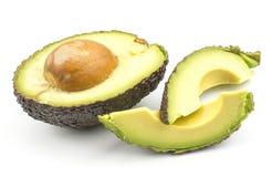 Свежий сырцовый авокадо изолированный на белизне Стоковые Фотографии RF