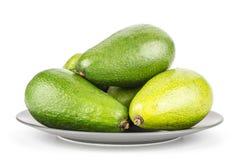 Свежий сырцовый ровный авокадо изолированный на белизне Стоковое Фото