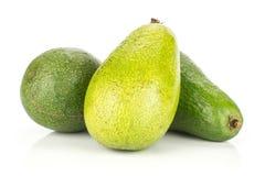 Свежий сырцовый ровный авокадо изолированный на белизне Стоковое Изображение