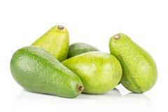 Свежий сырцовый ровный авокадо изолированный на белизне Стоковые Фотографии RF
