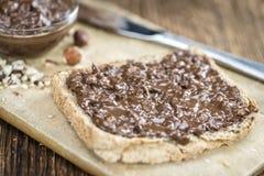 Свежий сделанный сандвич с сливк шоколада Стоковое Изображение