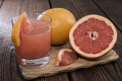 Свежий сделанный сок грейпфрута Стоковая Фотография