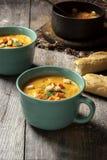 Свежий сделанный суп сквоша Стоковое Изображение