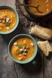 Свежий сделанный суп сквоша Стоковое Фото