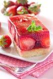 Свежий торт клубники Стоковое фото RF