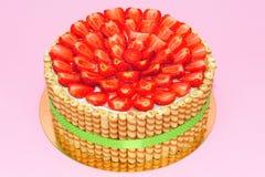 Свежий торт клубник Стоковая Фотография RF
