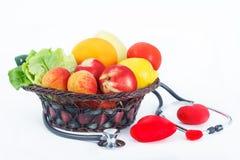 Свежий фрукт и овощ на здоровая жизнь Стоковое Изображение RF