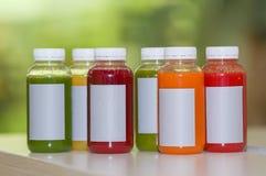 Свежий фрукт и овощ смешивания сока Стоковые Изображения