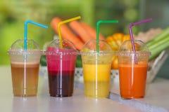 Свежий фрукт и овощ смешивания сока Стоковая Фотография RF