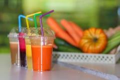 Свежий фрукт и овощ смешивания сока Стоковое Фото