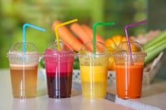 Свежий фрукт и овощ смешивания сока Стоковое Изображение RF