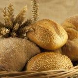 Свежий хлеб и печенья Стоковая Фотография