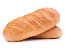 Свежий хлеб изолированный на белом вырезе предпосылки стоковая фотография