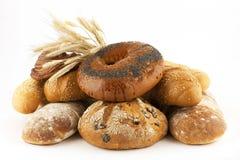 Свежий хлеб и плюшки Стоковые Фотографии RF
