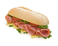 свежий швейцарец подводной лодки сэндвича с ветчиной Стоковые Изображения
