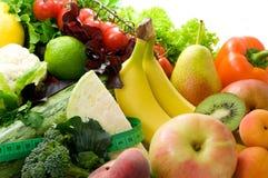 Свежий, яркий фрукт и овощ стоковое фото