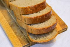 Свежий cutted хлеб Стоковое Изображение