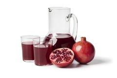 свежий pomegranate сока Стоковые Изображения RF