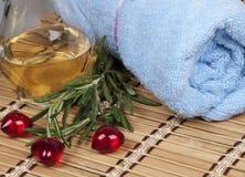 свежий rosemary масла массажа теплый Стоковое Изображение