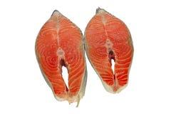 свежий salmon стейк стоковое изображение rf