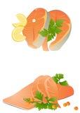 свежий salmon стейк Бесплатная Иллюстрация