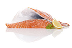 свежий salmon стейк Стоковое фото RF