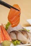 Свежий Salmon Sashimi Стоковые Изображения