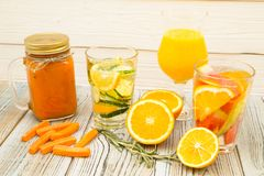 Свежий smoothie фрукта и овоща стоковые изображения rf