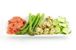 свежим овощи marinated lox Стоковое фото RF