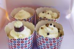 4 свежих вкусных ванильных пирожного Стоковые Изображения RF