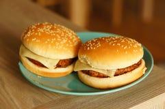 2 свежих гамбургера Стоковое Изображение RF