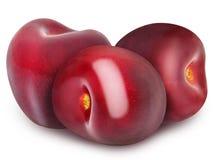 3 свежих зрелых красных вишни Стоковая Фотография RF