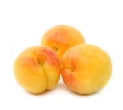 3 свежих изолированного плодоовощ абрикоса Стоковые Фото